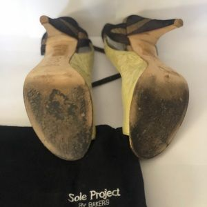 Brown and beige heels from Sole Project by Bakers